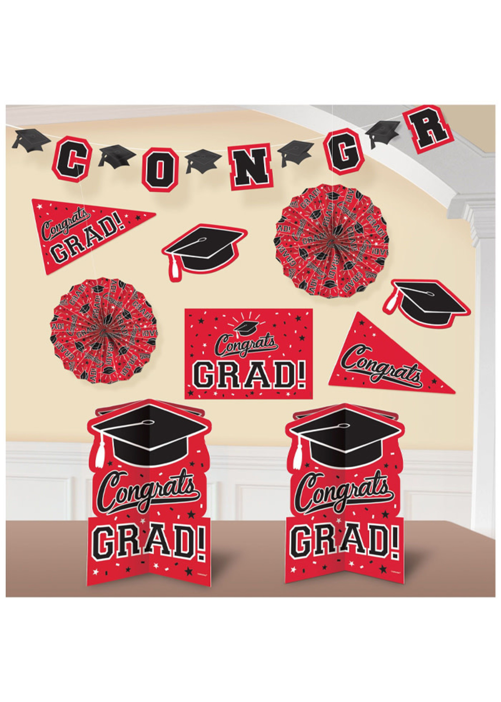 Room Decorating Kit -Red