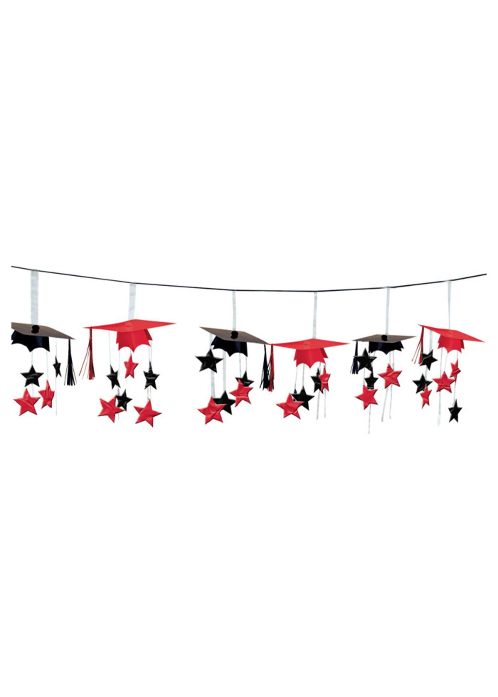 Red 3-D Foil Garland - 12ft