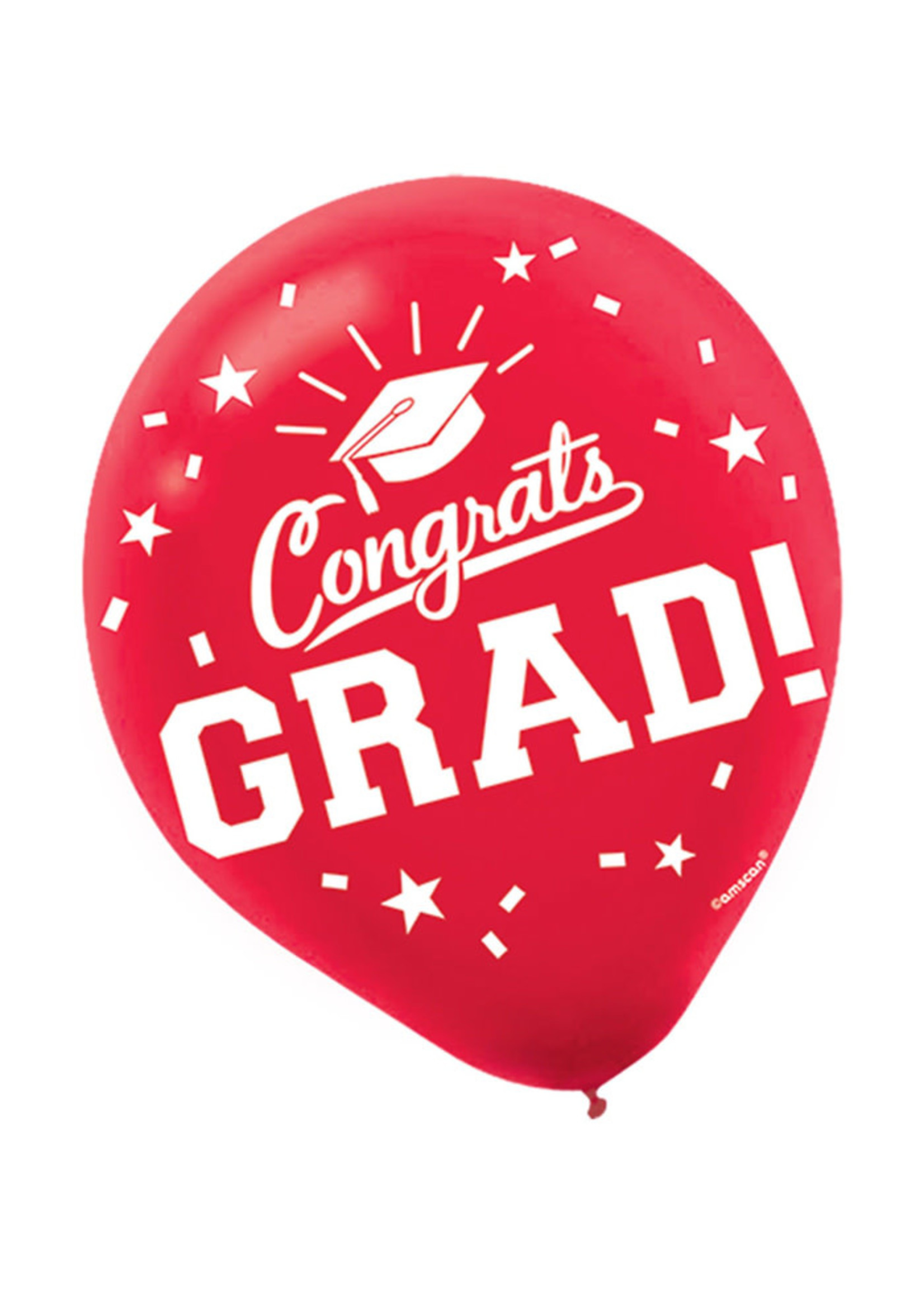 Grad Red Latex Balloons - 15ct