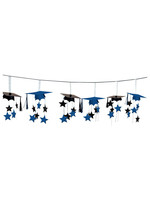 Blue 3-D Foil Garland - 12ft
