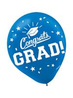 Grad Latex Blue Balloons - 15ct