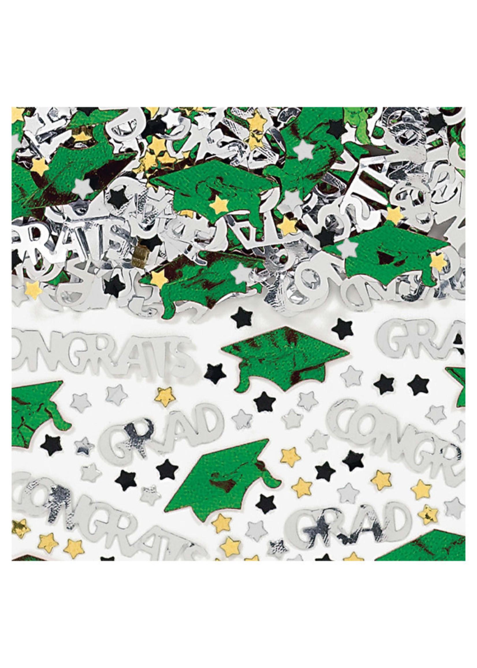 Embossed Metallic Confetti - Green