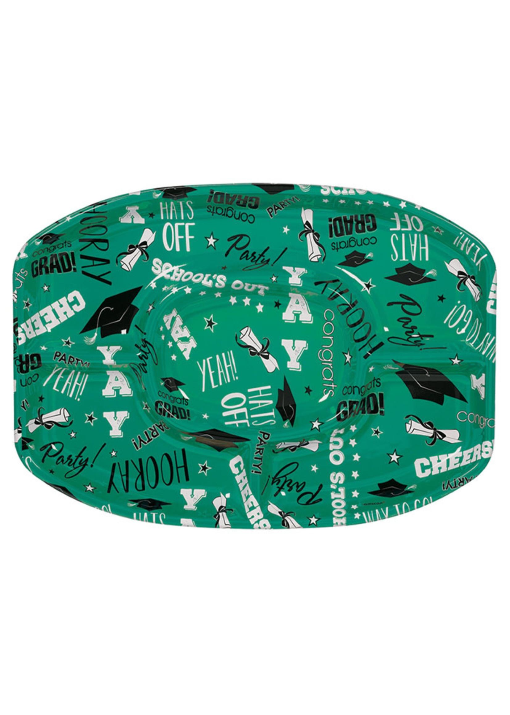Green Grad Platter - 18in