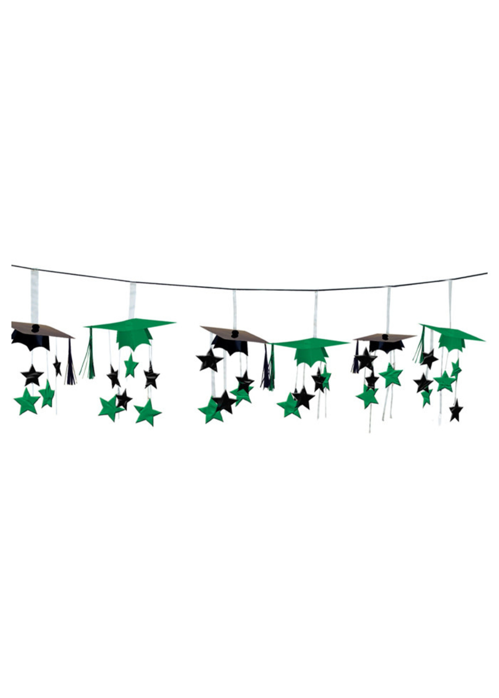 Green 3-D Foil Garland - 12ft