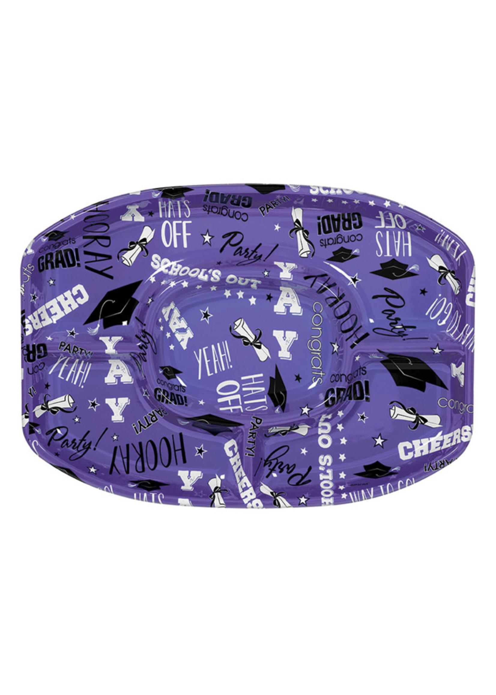 Purple Grad Platter - 18in