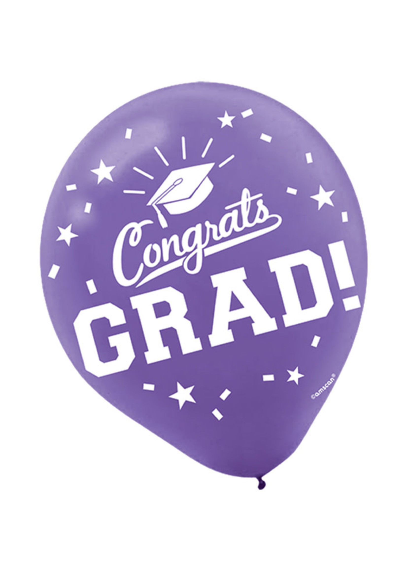 Purple Grad Latex Balloons - 15ct