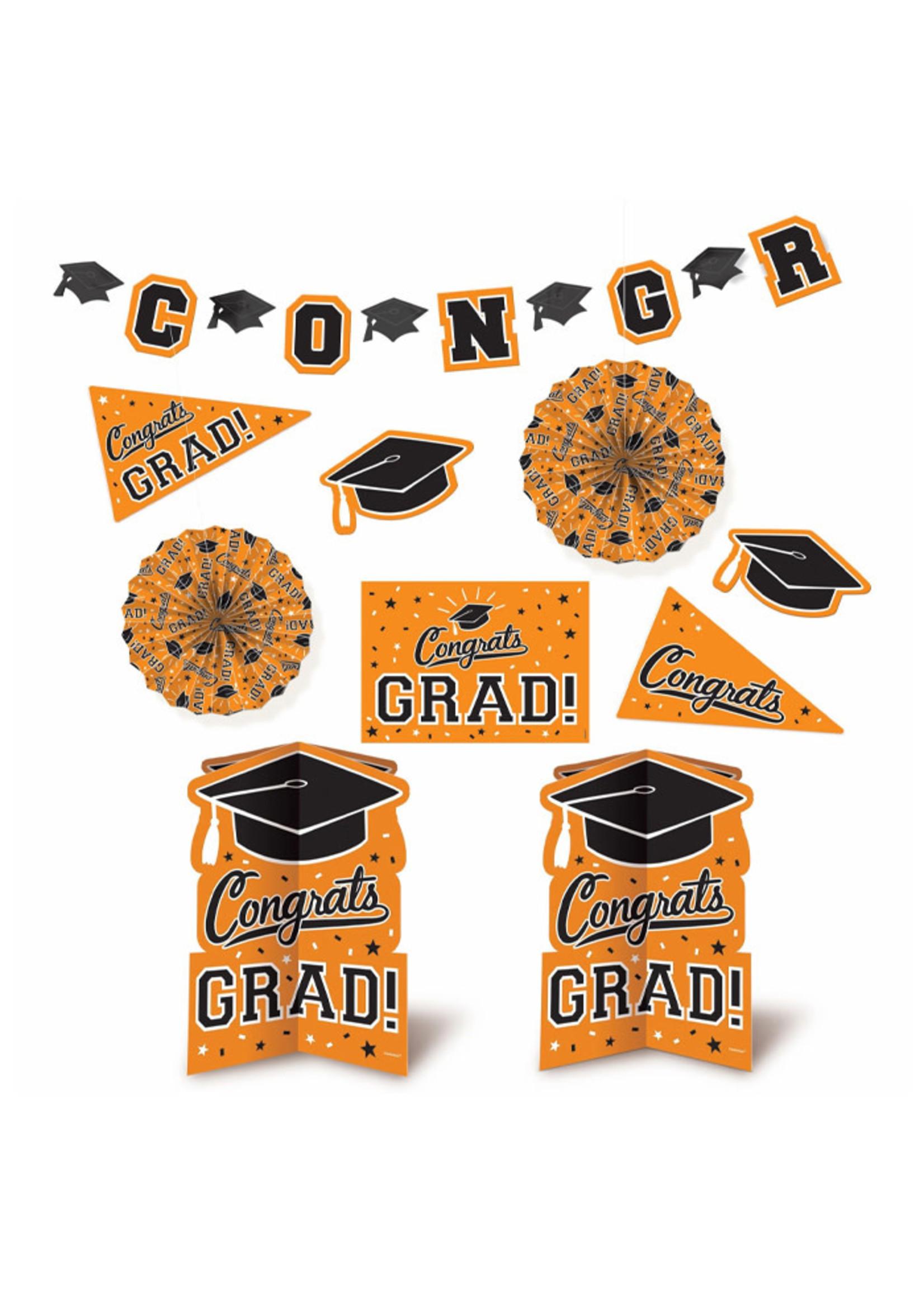 Grad Room Decorating Kit - Orange
