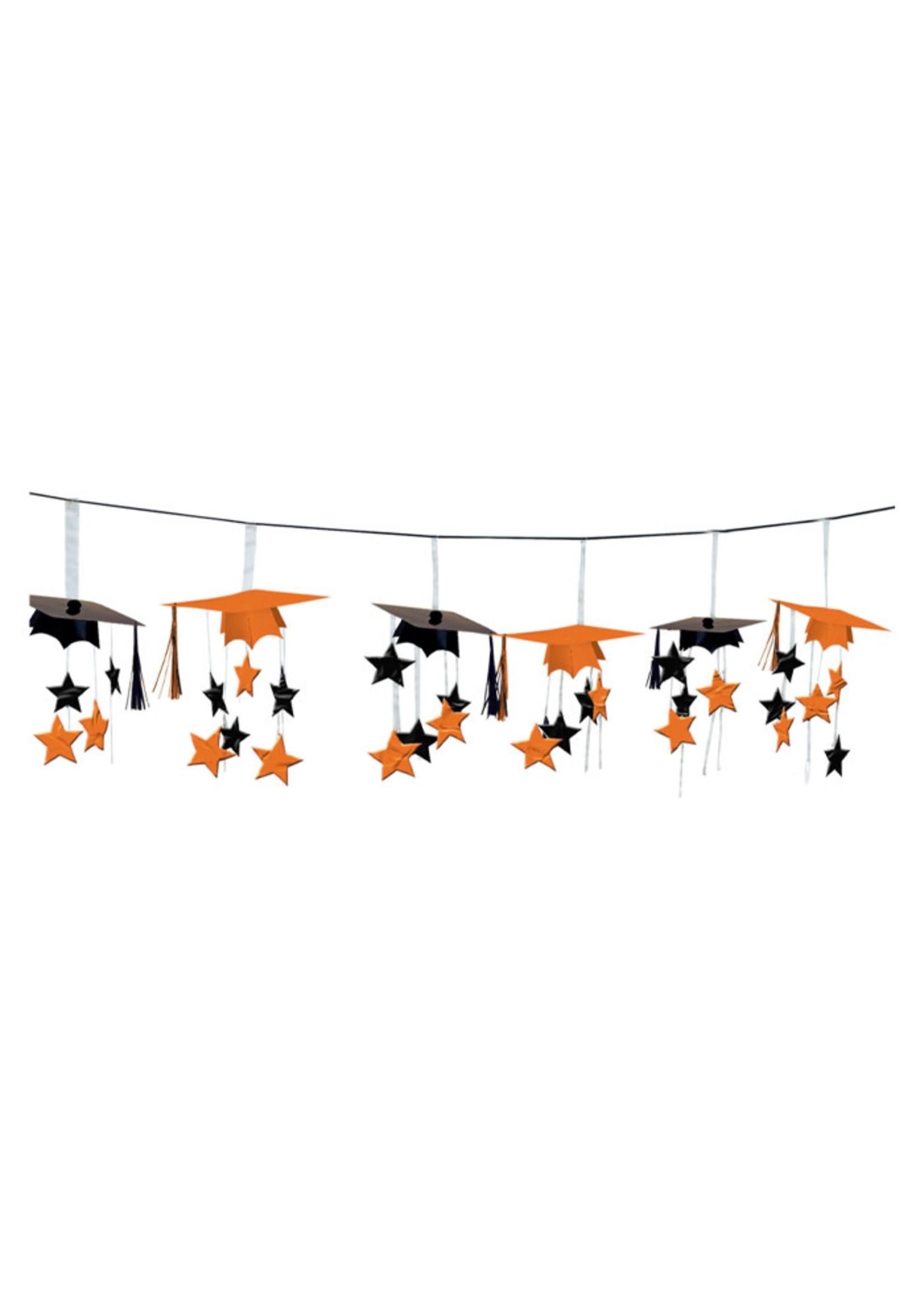 Orange 3-D Foil Garland - 12ft