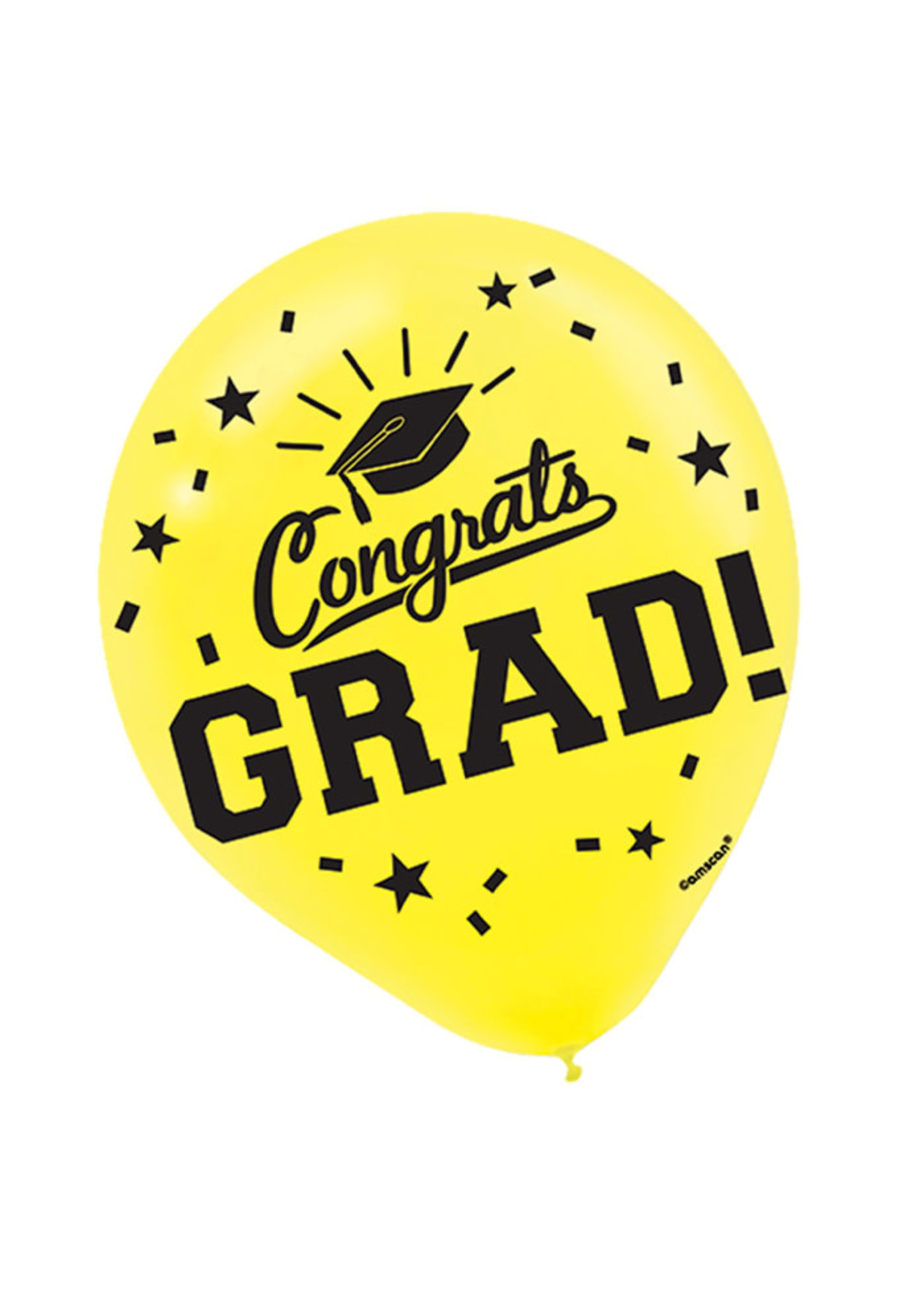 Yellow Grad Latex Balloons - 15ct