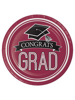 Creative Converting Burgundy Grad Lunch Paper Plates, 18 ct