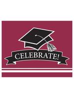 Creative Converting Burgundy Grad Invitations - 25 ct