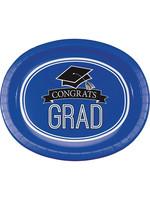 "Creative Converting Blue Grad Oval Platters, 10"" X 12"", 8 ct"