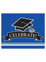 Creative Converting Blue Grad Invitations - 25 ct