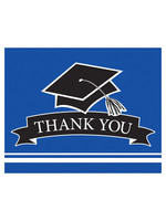 Creative Converting Blue Grad Thank You Notes - 25 ct