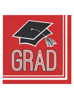 Creative Converting Red Grad Lunch Napkins, 36 ct