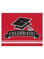 Creative Converting Grad Red Invitations - 25 ct