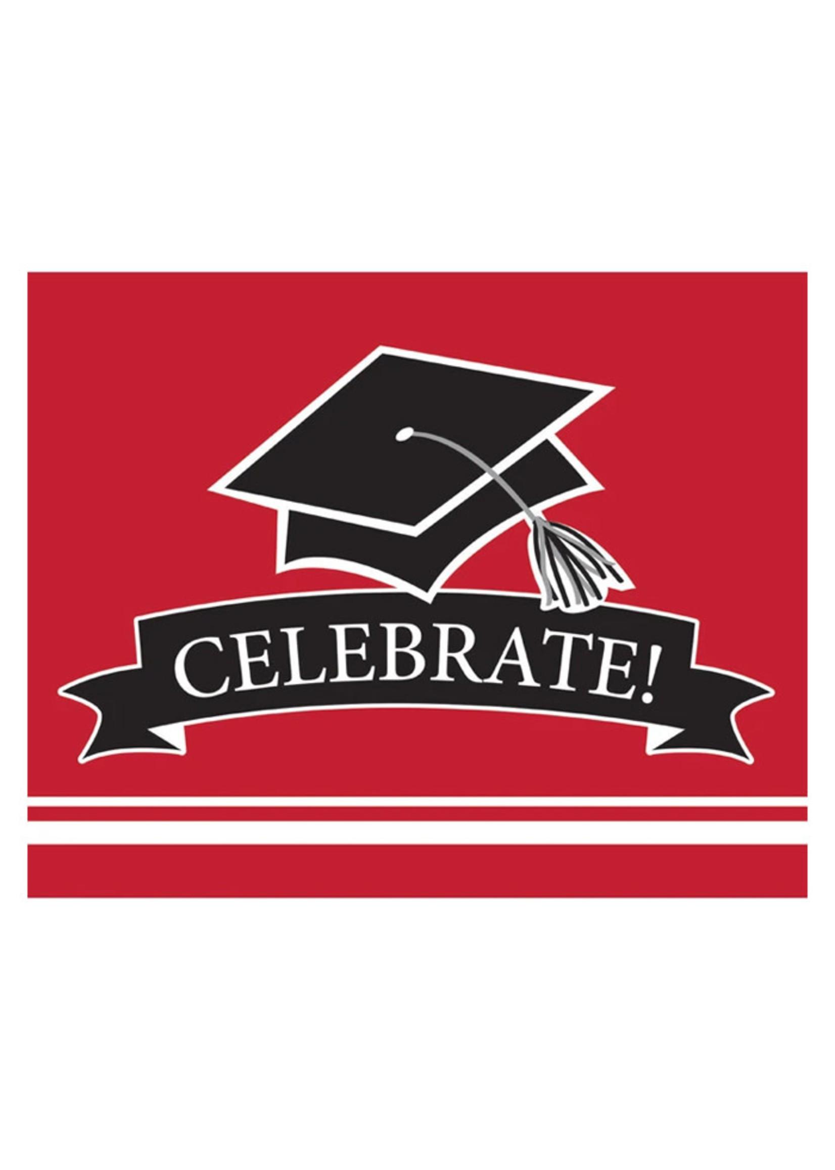 Creative Converting Grad Red Invitations - 25 ct