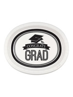 Creative Converting Grad White Oval Platters - 8 ct