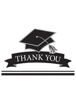 Creative Converting Graduation White Thank You Notes - 25 ct