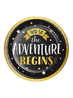 Creative Converting Grad Adventure Lunch Plate - 8ct