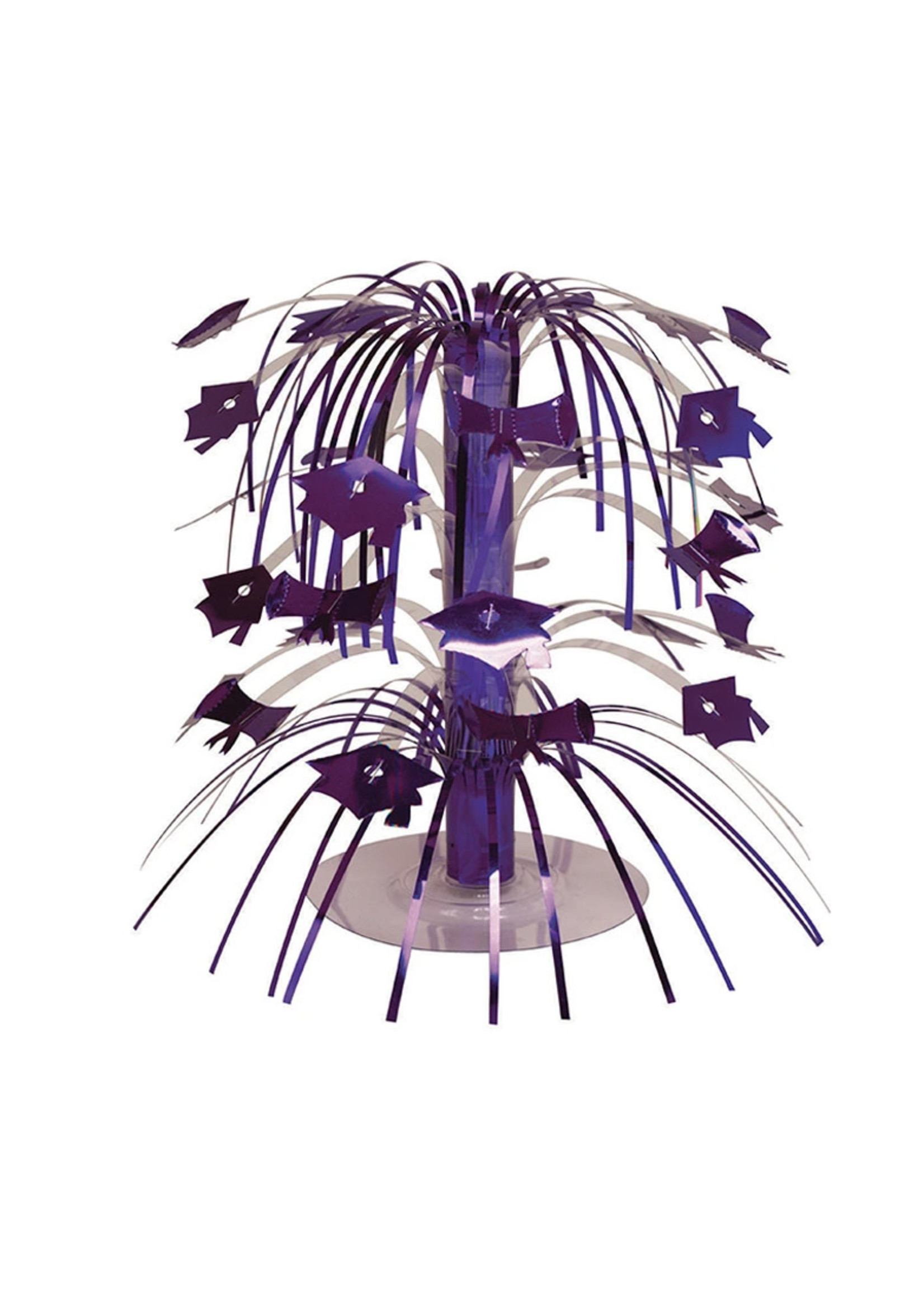 Creative Converting Purple Mortarboard Graduation Centerpiece