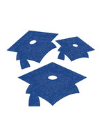 Creative Converting Blue Mortarboard Graduation Cutouts -12 ct
