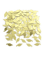 Creative Converting Yellow / Gold Mortarboards Graduation Confetti - 0.5 oz