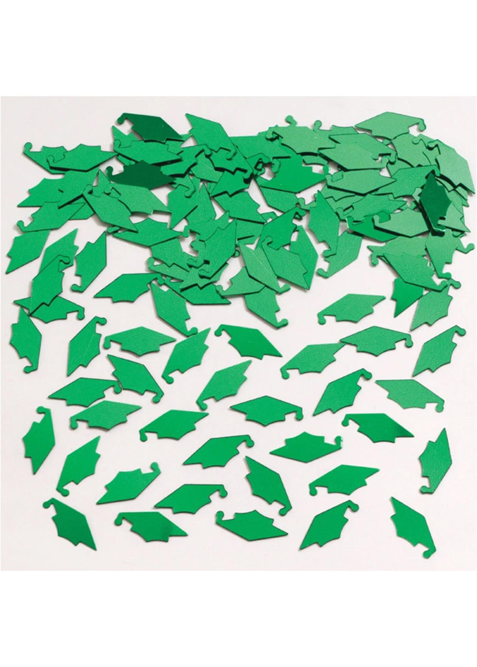 Creative Converting Green Mortarboard Graduation Confetti - 0.5 oz
