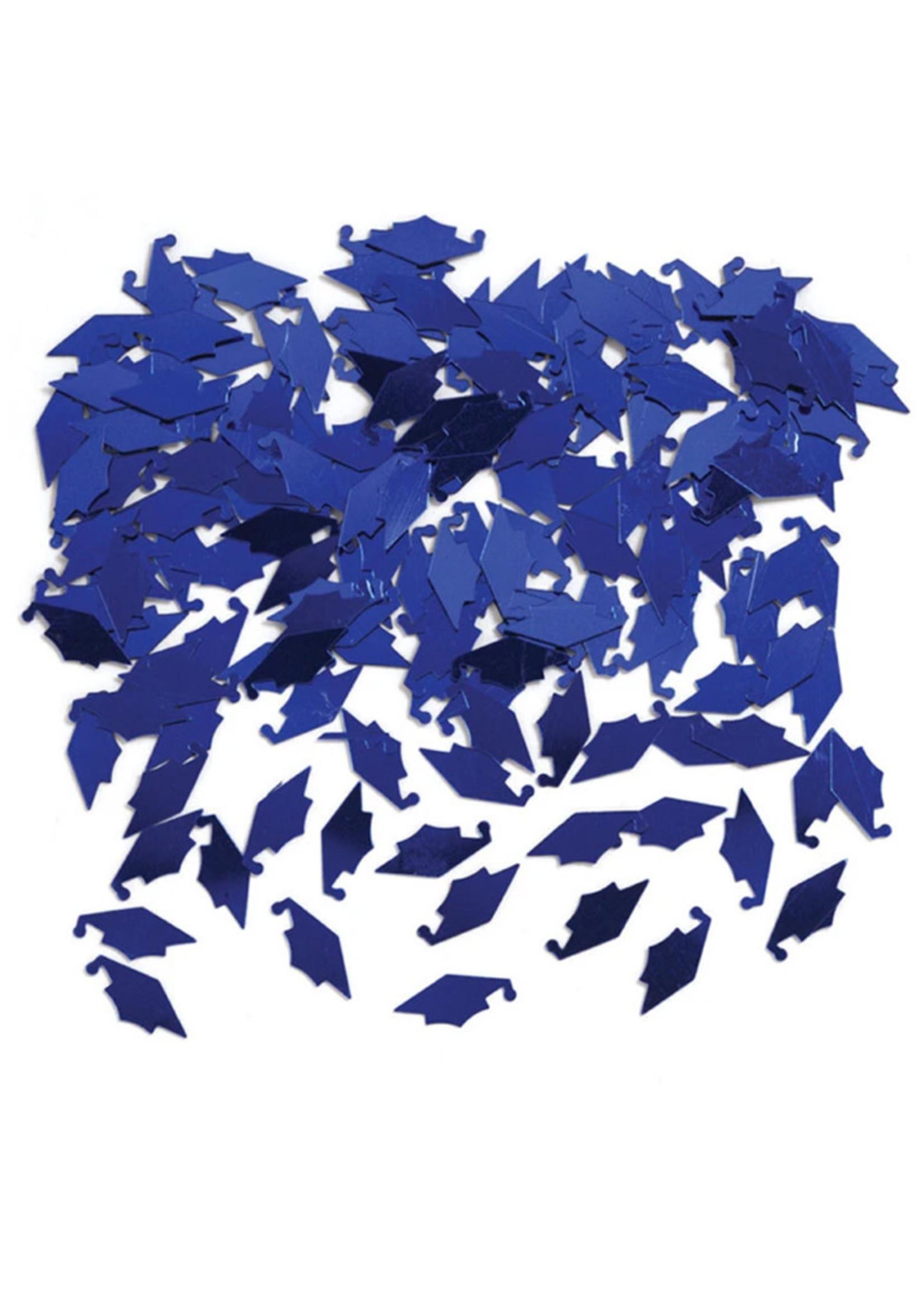 Creative Converting Blue Mortarboards Graduation Confetti - 0.5 oz