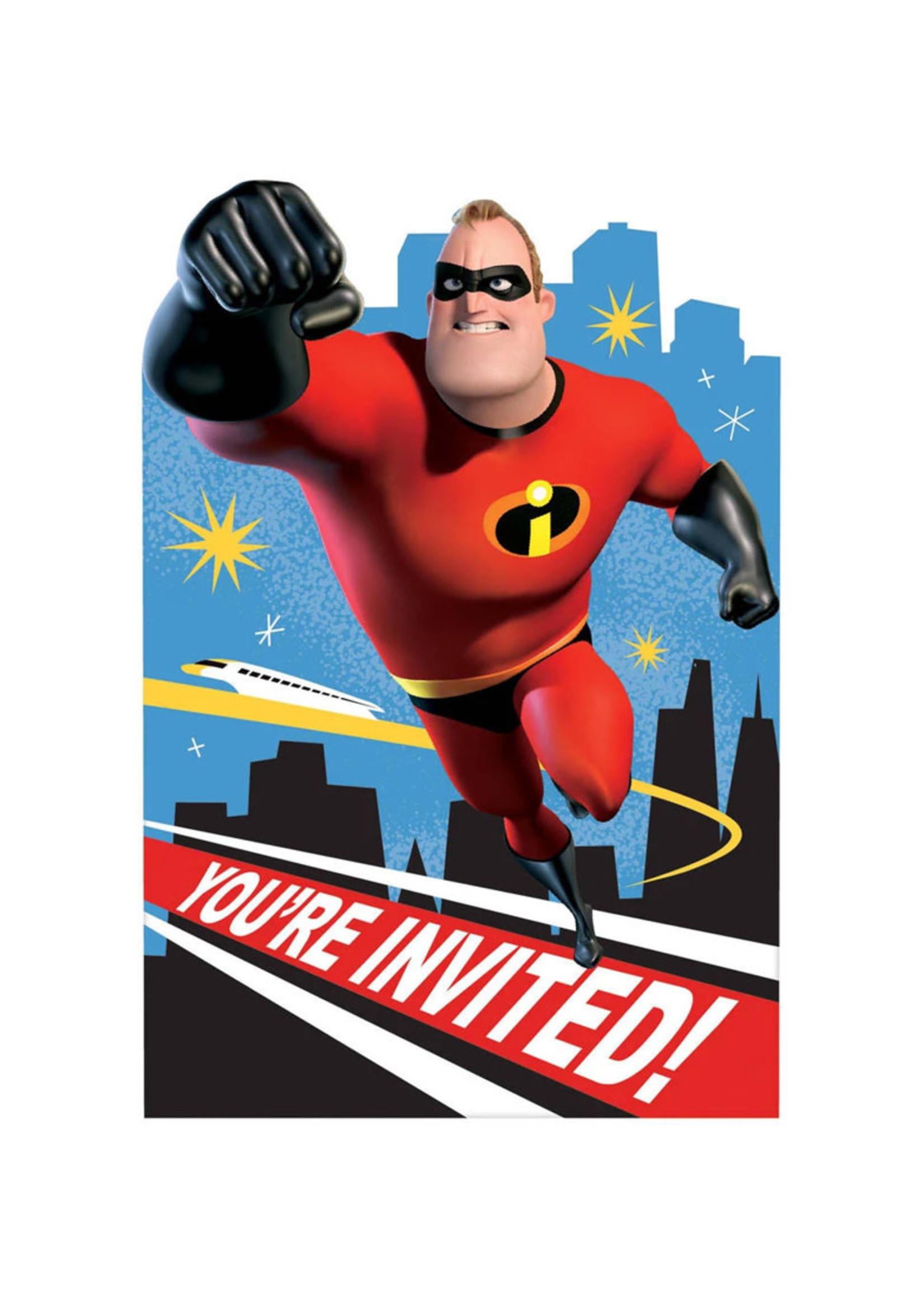 Incredibles 2 Postcard Invitations - 8ct
