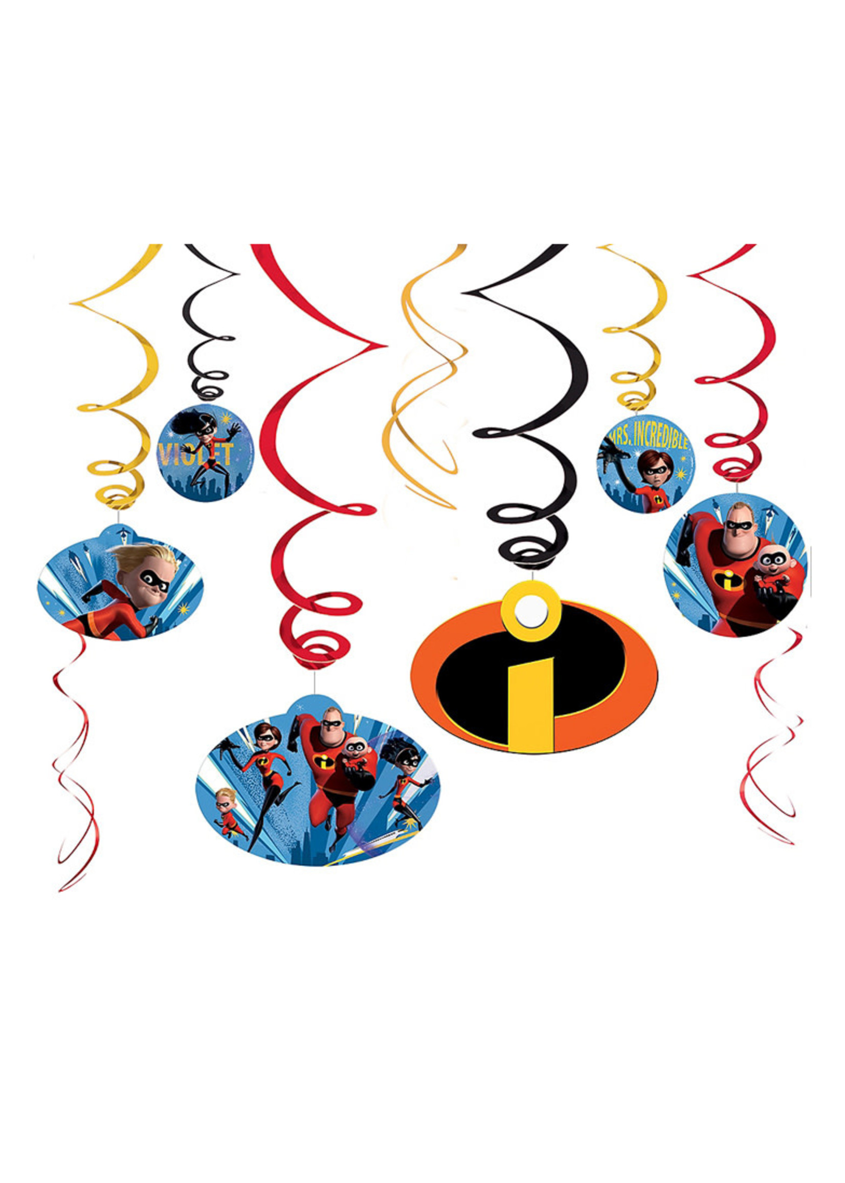 Incredibles 2 Swirl Decorations 12ct