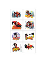 Incredibles 2 Tattoos 1 Sheet