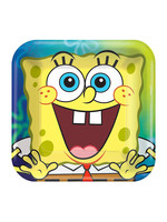 SpongeBob SquarePants Paper Square Dessert Plates, 7in, 8ct