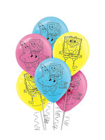 SpongeBob SquarePants Balloons, 12in, 6ct