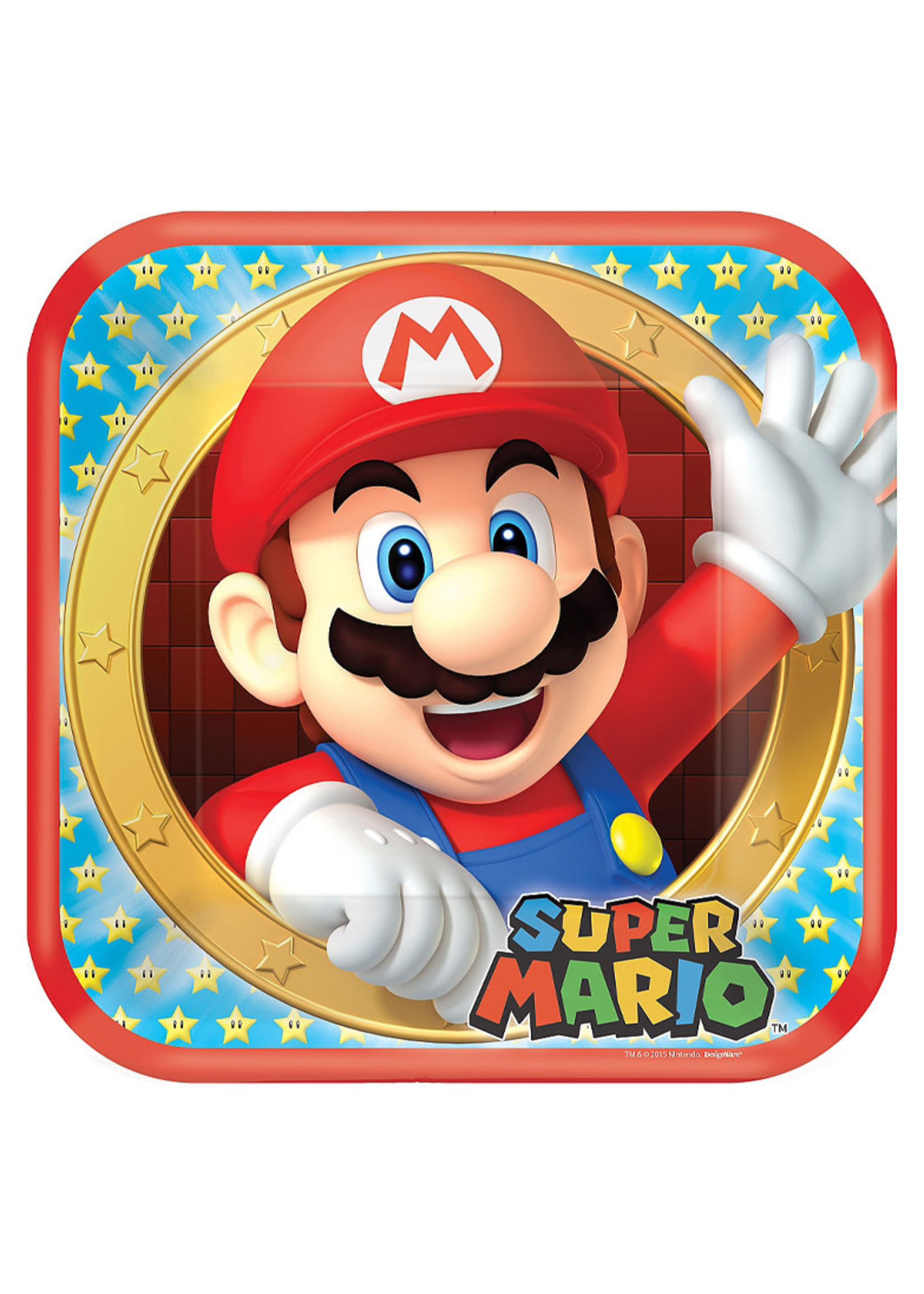 Super Mario Lunch Plates 8ct
