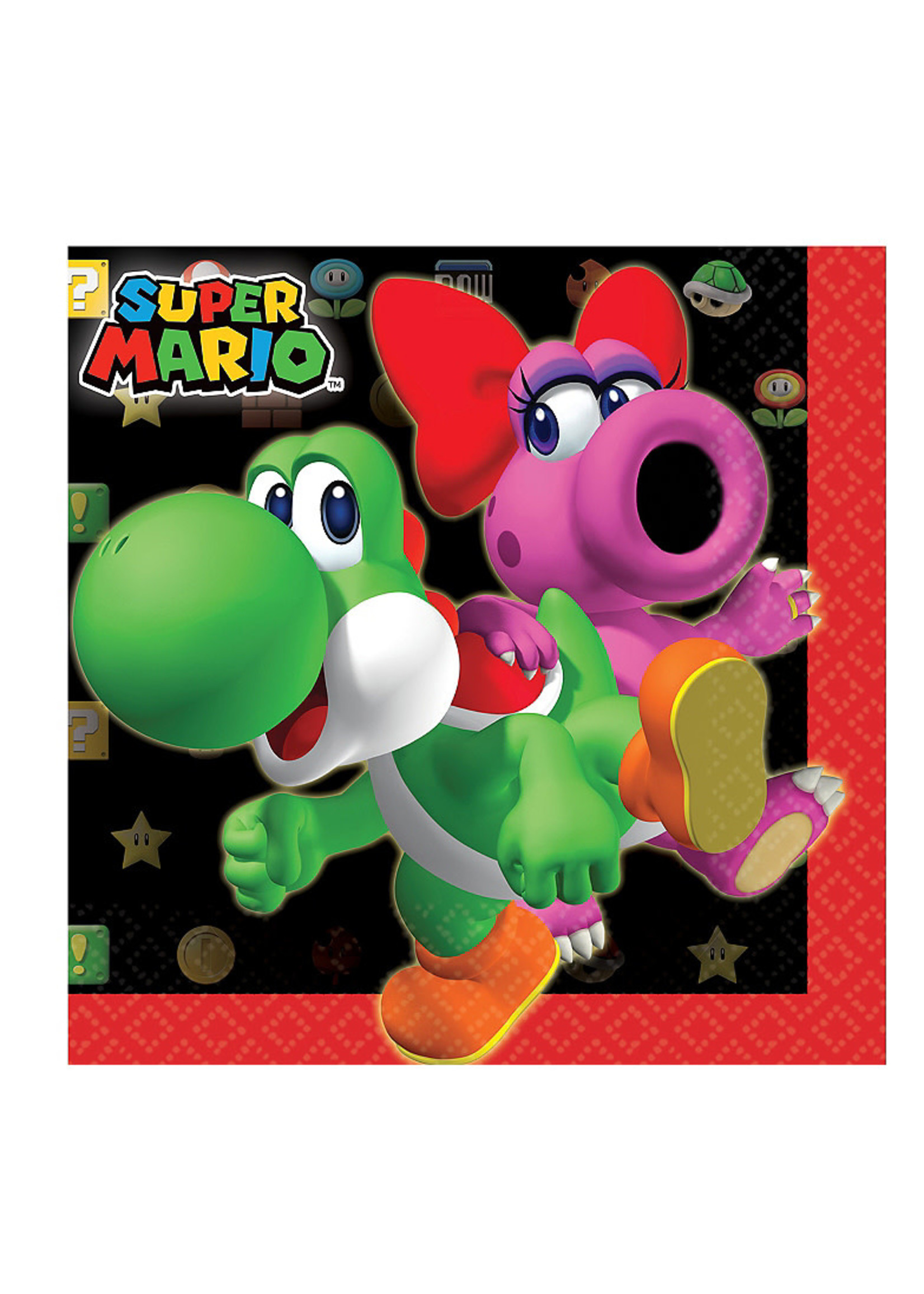 Super Mario Beverage Napkins 16ct