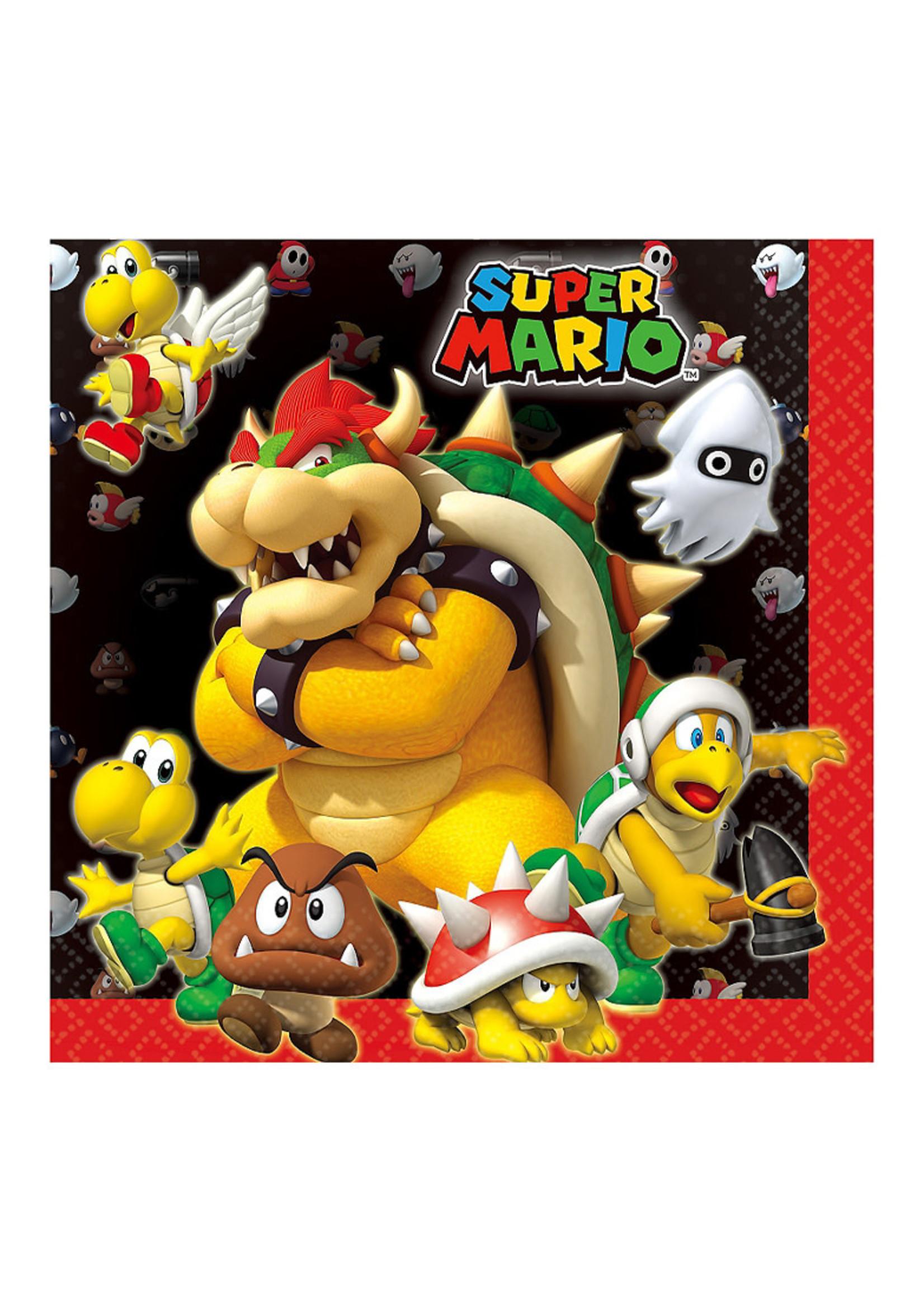 Super Mario Lunch Napkins 16ct