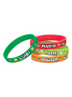 Super Mario Wristbands 6ct