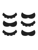 Super Mario Moustaches 6ct