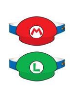 Mario & Luigi Party Hats - 8ct