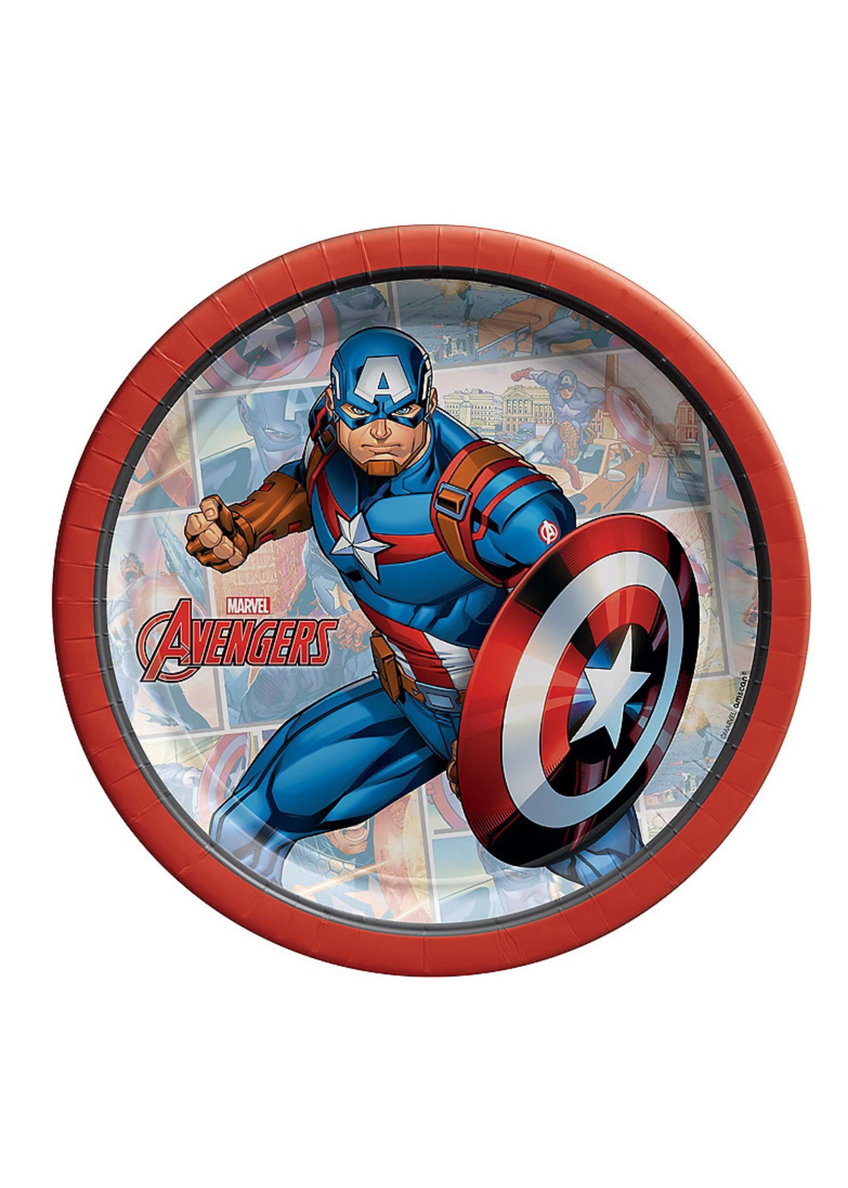 Marvel Powers Unite Captain America Dessert Plates 8ct
