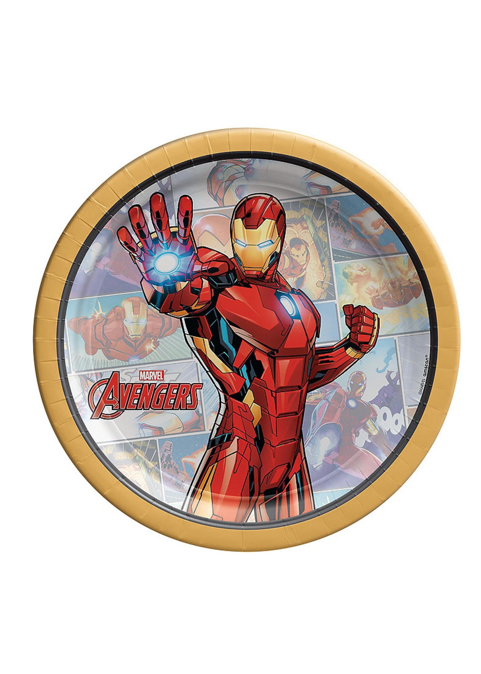 Marvel Powers Unite Iron Man Dessert Plates 8ct