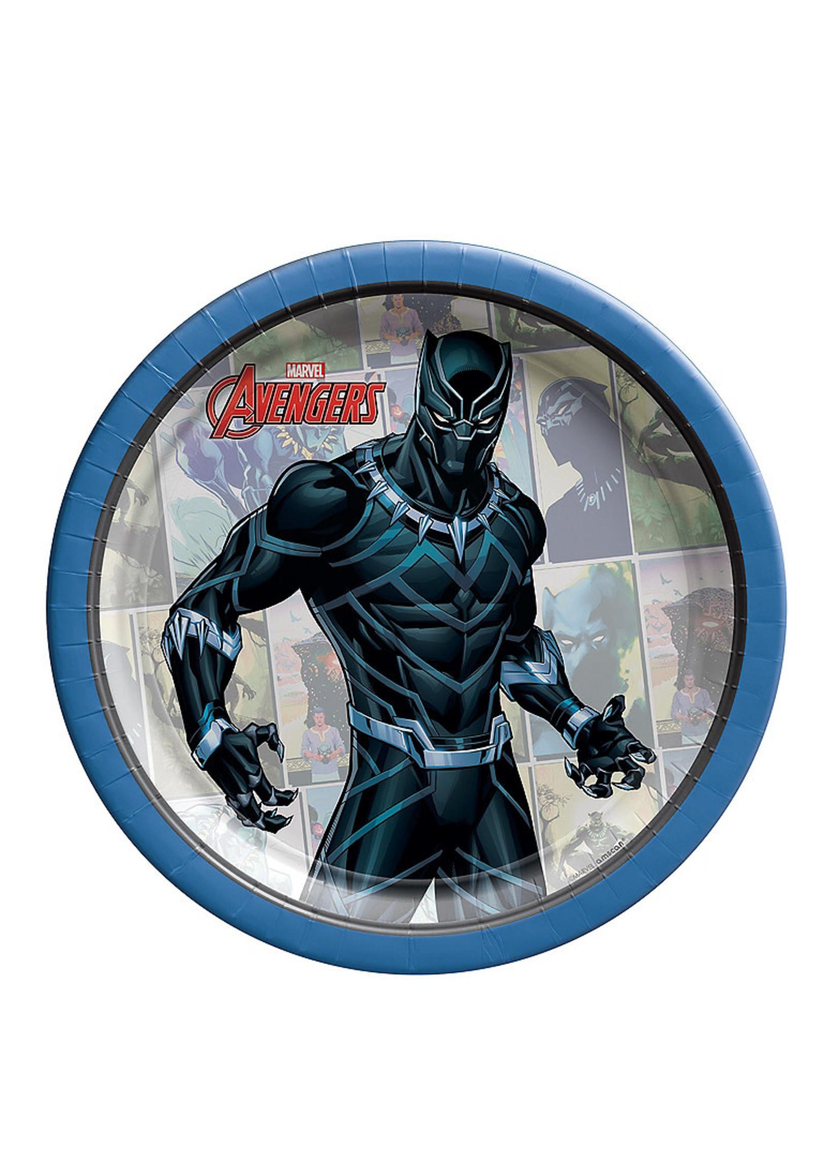 Marvel Powers Unite Black Panther Dessert Plates 8ct