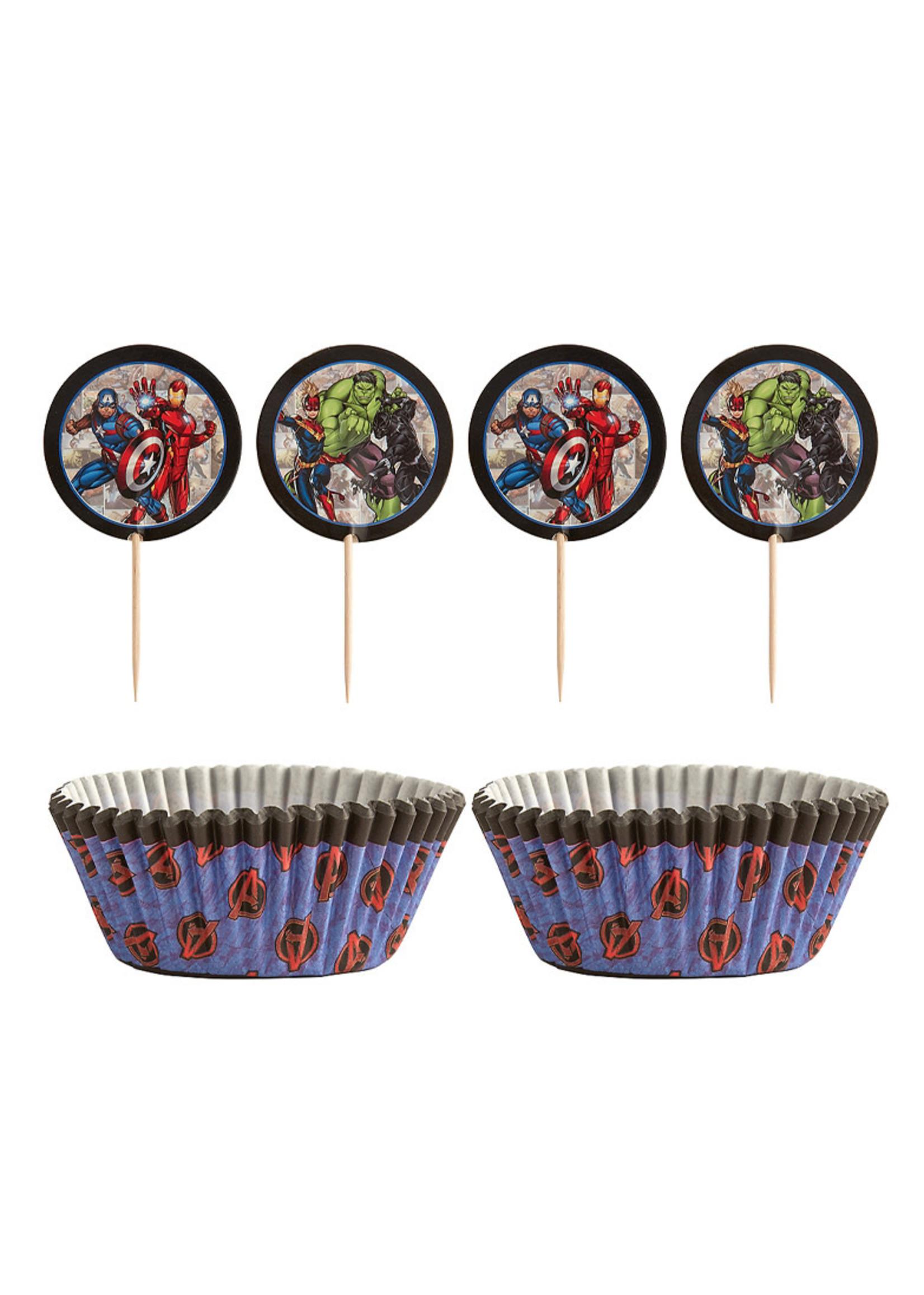 Marvel Powers Unite Cupcake Decorating Kit for 24