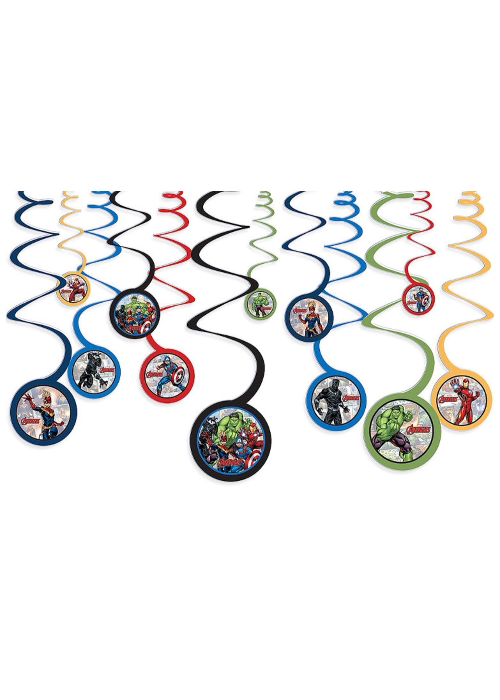 Marvel Powers Unite Swirl Decorations 12ct