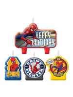 Spider-Man Webbed Wonder Birthday Candles 4ct