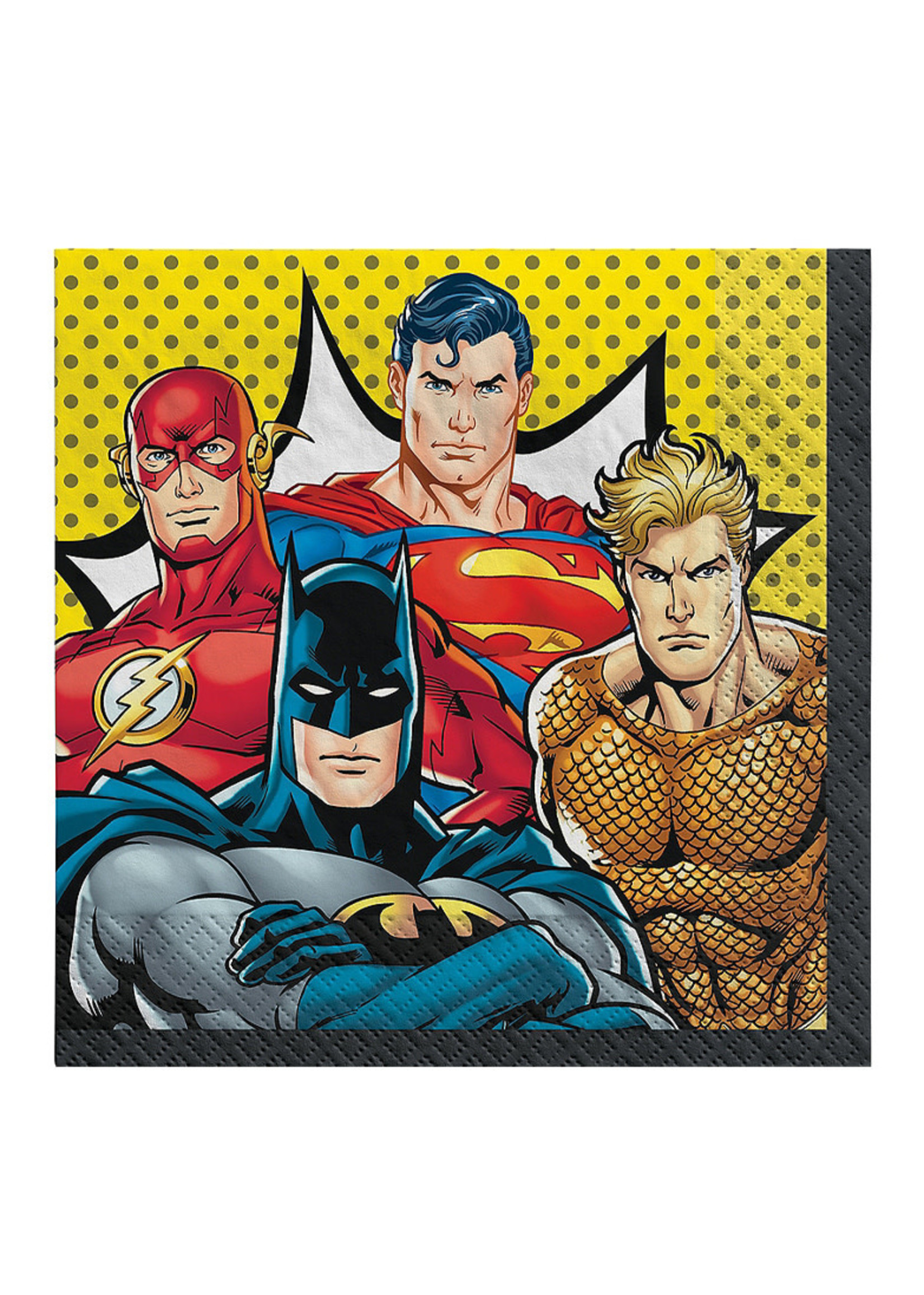 Justice League Heroes Unite Lunch Napkins 16ct