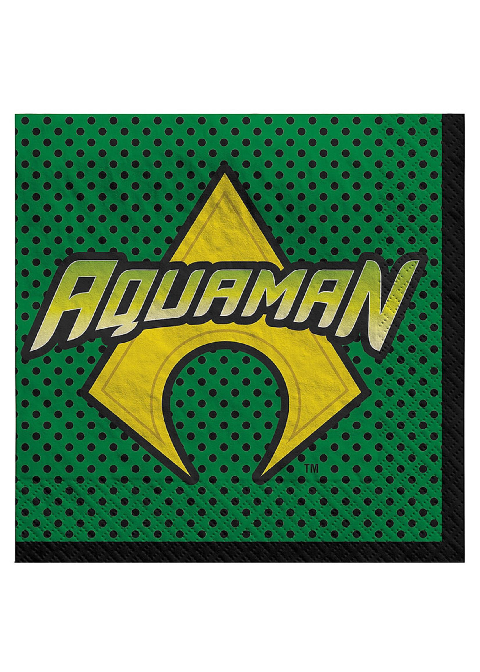 Justice League Heroes Unite Aquaman Lunch Napkins 16ct