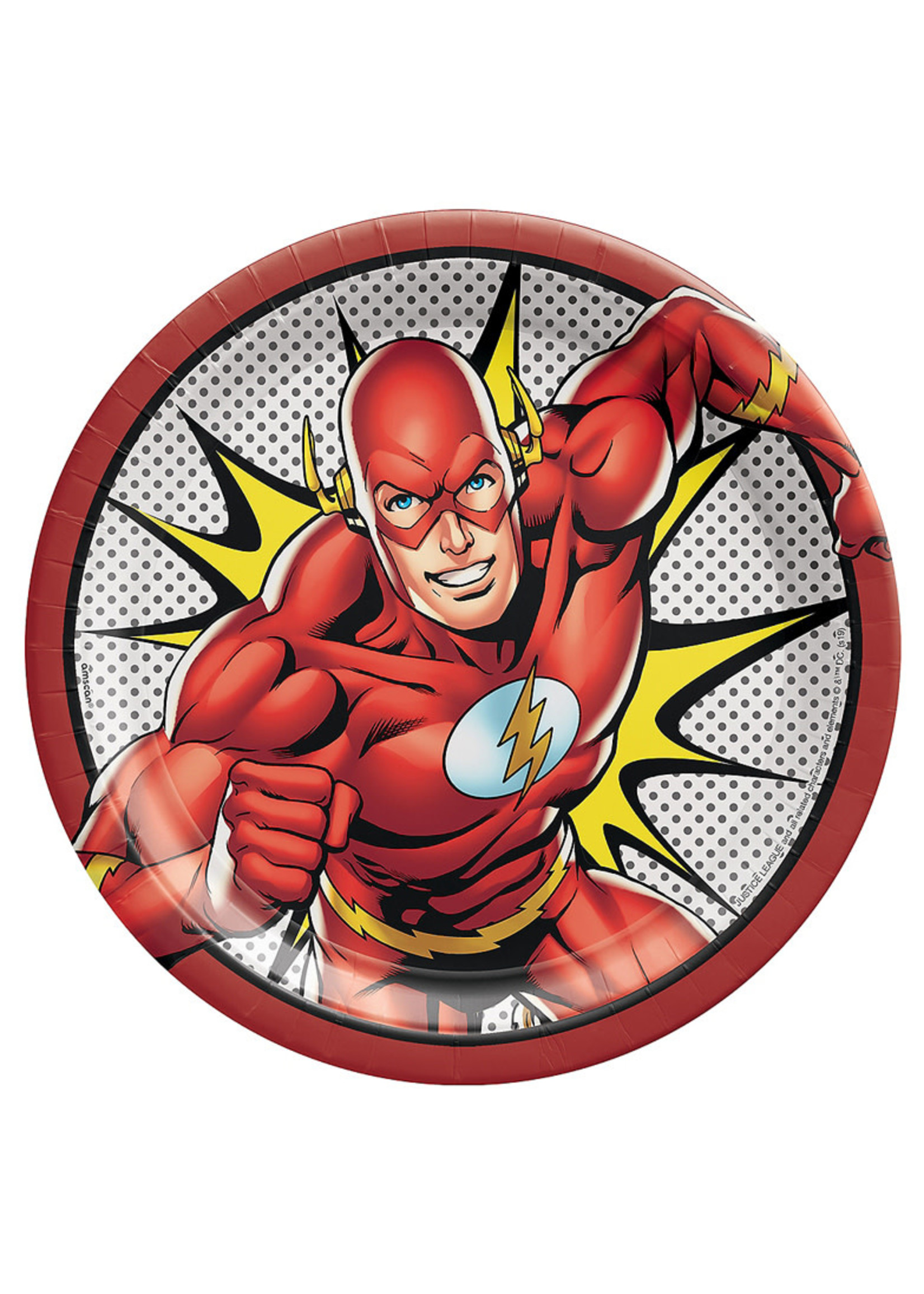 Justice League Heroes Unite The Flash Lunch Plates 8ct