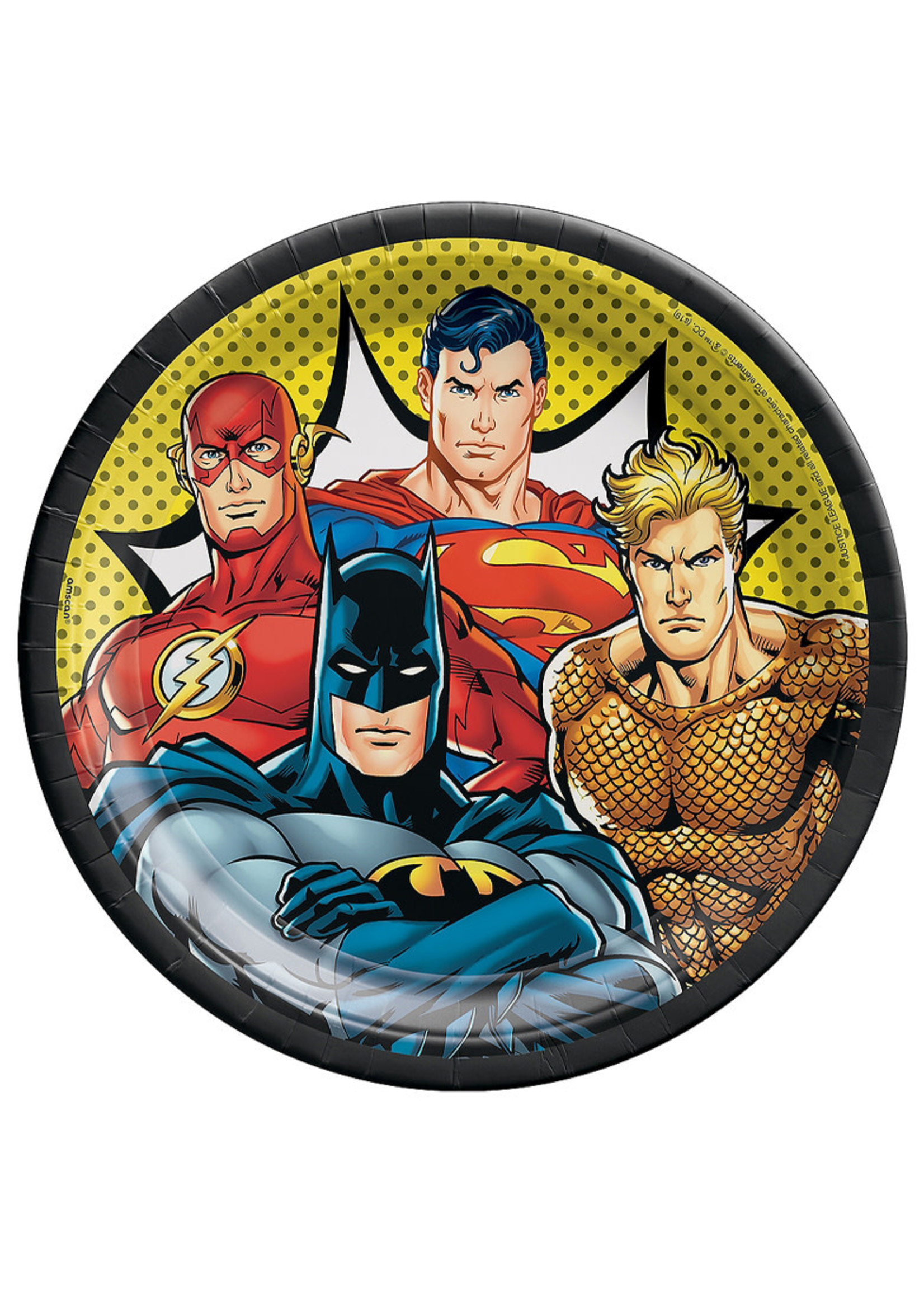 Justice League Heroes Unite Lunch Plates 8ct
